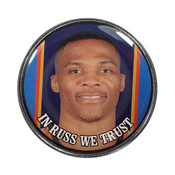 In Russ We Trust Lapel Pin Deluxe Photoscreen Lapel Pin