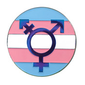 Transgender Symbol Lapel Pin Soft Enamel Rainbow