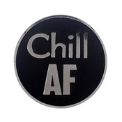 AF - Chill Lapel Pin Hard Enamel Silver