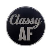 AF - Classy Lapel Pin Hard Enamel Silver