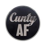 AF - Cunty Lapel Pin Hard Enamel Silver