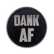 AF - Dank Lapel Pin Hard Enamel Silver