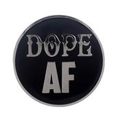 AF - Dope Lapel Pin Hard Enamel Silver