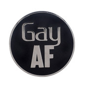 AF - Gay Lapel Pin Hard Enamel Silver