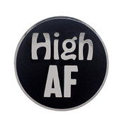 AF - High Lapel Pin Hard Enamel Silver