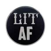 AF - Lit Lapel Pin Hard Enamel Silver