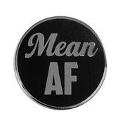 AF - Mean Lapel Pin Hard Enamel Silver