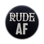 AF - Rude Lapel Pin Hard Enamel Silver