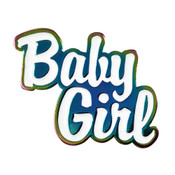 Baby Girl Lapel Pin Soft Enamel Rainbow Plating