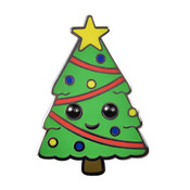 Christmas Tree - Cute Lapel Pin Hard Enamel Black Nickel