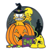 Garfield And Odie Halloween Lapel Pin Hard Enamel Black Nickel