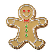Gingerbread Man Lapel Pin Soft Enamel Gold