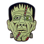 Halloween Frankenstein Lapel Pin Black Nickel