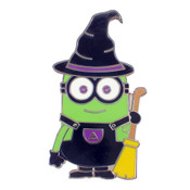 Minion Witch Lapel Pin Hard Enamel Silver