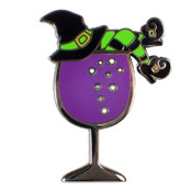 Witches Brew Lapel Pin Black  Nickel