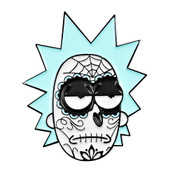 Rick Muerto Lapel Pin Soft Enamel Black Dyed Metal