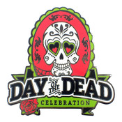 Day of the Dead Celebration Lapel Pin Hard Enamel Black Nickel