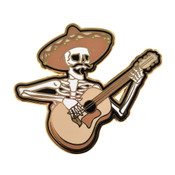 Rock On - Skeleton Lapel Pin Hard Enamel Gold