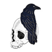 Nevermore Lapel Pin Soft Enamel Black Nickel