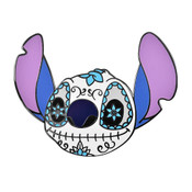 Day of the Dead Stitch Lapel Pin Hard Enamel Black Nickel