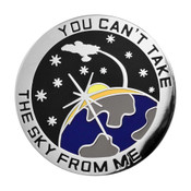 You Can't Take The Sky From Me  Lapel Pin Hard Enamel Silver