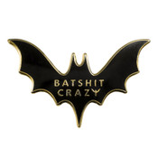 Bat Shit Crazy Lapel Pin Hard Enamel Gold