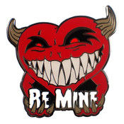 Be Mine Lapel Pin Hard Enamel Black Nickel