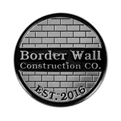 Border Wall Construction Lapel Pin Soft Enamel Antiqued Silver