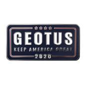 GEOTUS 2020 Lapel Pin Hard Enamel Silver