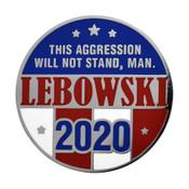 Lebowski 2020 Lapel Pin Hard Enamel Silver
