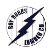 Roy Hobbs Lumber Co Lapel Pin Hard Enamel Silver