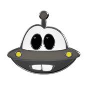 UFO Mater Lapel Pin Hard Enamel Silver