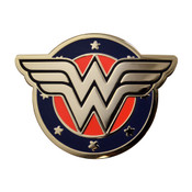 Wonder Woman WW Logo Lapel Pin Hard Enamel Gold