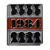 Classic Novels - 1984 Lapel Pin Soft Enamel Silver