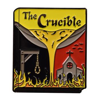 Classic Novels - The Crucible Lapel Pin Soft Enamel Black Nickel