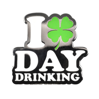 Day Drinking Lapel Pin Hard Enamel Black Nickel