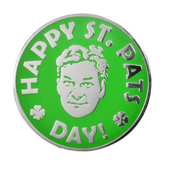 Happy St. Pats Day Lapel Pin Hard Enamel Silver