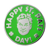 Happy St. Pats Day Lapel Pin Hard Enamel Silver