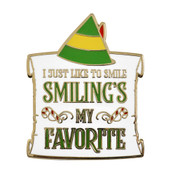 Elf - Smiling Is My Favorite Lapel Pin Hard Enamel Gold