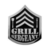 Grill Sergeant Lapel Pin Hard Enamel Silver