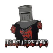 Just A Flesh Wound Lapel Pin Hard Enamel Black Nickel