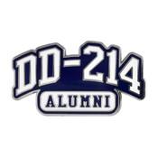 DD 214 Alumni Lapel Pin Hard Enamel Silver