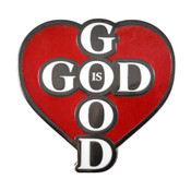God is Good Lapel Pin Hard Enamel Black Nickel