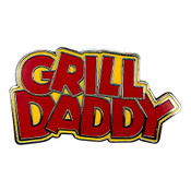 Grill Daddy Lapel Pin Hard Enamel Silver