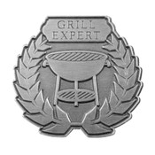 Grill Expert Lapel Pin Die Struck Antiqued Silver