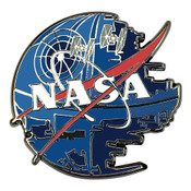NASA Logo Star Wars Lapel Pin Hard Enamel Black Nickel
