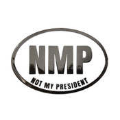 Not My President Run Lapel Pin Hard Enamel Black Nickel
