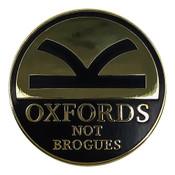 Oxford Not Brogues  Lapel Pin Hard Enamel Gold