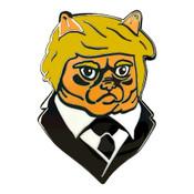 Trumpy Cat Lapel Pin Hard Enamel Black Nickel