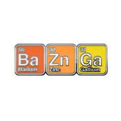 BaZnGa Chemistry Lapel Pin Hard Enamel Silver